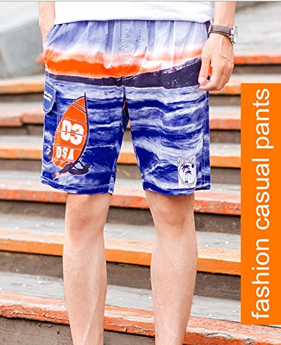 Tailor Pal Love Plus Size Bathing Suits for Men Straight-Leg Casual Cargo Water Shorts Breathable Quick Dry Surf Trunks, Dark Blue Size XL by Tailor Pal Love (Image #3)