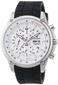 Festina F6816/1 - Reloj cronógrafo de cuarzo para hombre con correa de caucho, color negro