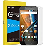 SPARIN [2 Pack] Moto G4 Screen Protector, [Not for Moto G4 Plus] Glass Screen Protector for Motorola Moto G 4th Generation with [Ultra Clear] [Scratch Proof] [Lifetime Wrannty]