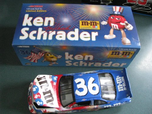 Racing Collectibles Ken Schrader Pontiac Grand Prix MMs M&Ms #36 Same Great Chocolate Better Name Paint Scheme Hood & Trunk Opens Limited Edition 1/24 Scale ()