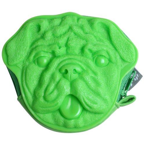Pug Monedero Verde