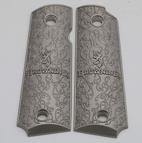 (Tek_Tactical Browning 1911-22 Grips / 1911-380 Browning Metal Grips Brushed Nickel Plated)