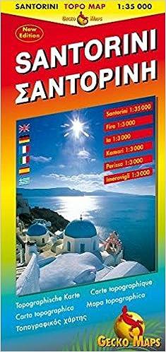 Vapaa torrent eBooks lataa pdf Santorini Topographic Map (French, English, Spanish, Italian and German Edition) CHM