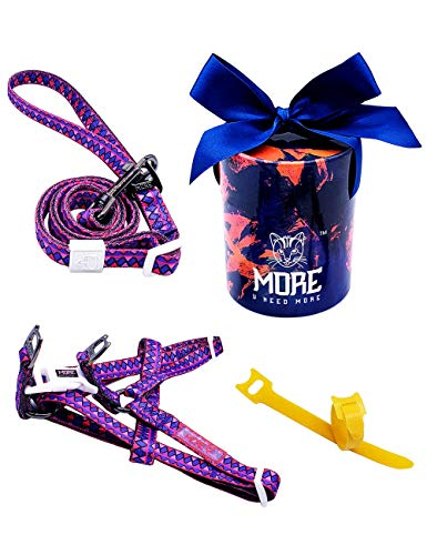 - More Cool in Summer Dog Harness and Leash Set with Gift Box & Hook and Loop(2 pcs) (Under 22lb, Chest 13.5