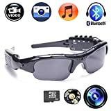 CFY Recording Sunglasses Camera With Bluetooth Spy Camera Sports Polarized Glasses Protective Glasses 720P Video Recorder Support Micro SD Card