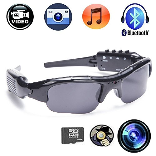 Price comparison product image CFY Recording Sunglasses Camera With Bluetooth Spy Camera Sports Polarized Glasses Protective Glasses 720P Video Recorder Support Micro SD Card