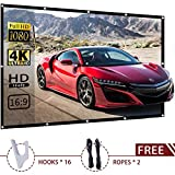 120-inch Projector Screen Outdoor Portable - EleTab 16:9 HD Foldable Anti-Crease Projection Movies Screen for Home Theater Support Double Sided Projection
