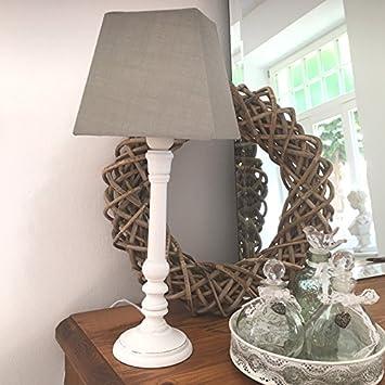 Lampe Sophie Grun Inkl Schirm Tischlampe Shabby Vintage Nostalgie