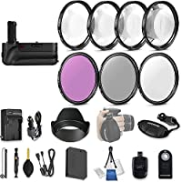 58mm 21 Pc Accessory Kit for Canon EOS Rebel SL1, 100D DSLR with Battery Grip, UV CPL FLD Filters, & 4 Piece Macro Close-Up Set, Battery, and More