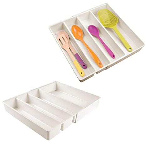 Amazon.com: mDesign Bandeja organizadora ajustable y ...