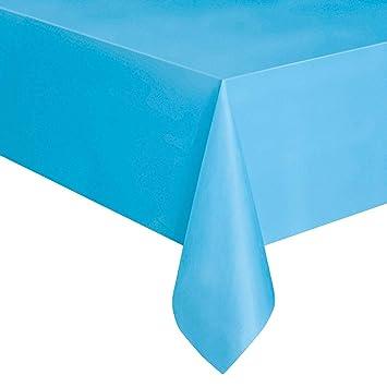 Qingsb 137 x 280 cm Rectangle Plastique jetable pour Table ...