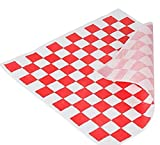 Food Grade Tissue Paper, Red White Check, 100 sheets, 12x12