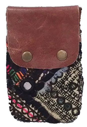 Free People Vintage Genuine Leather Tapestry Boho Chic Wallet - Pack of 1 from Free People