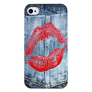 Joyland Lipstick Jeans Pattern ABS Back Case for iPhone 4/4S