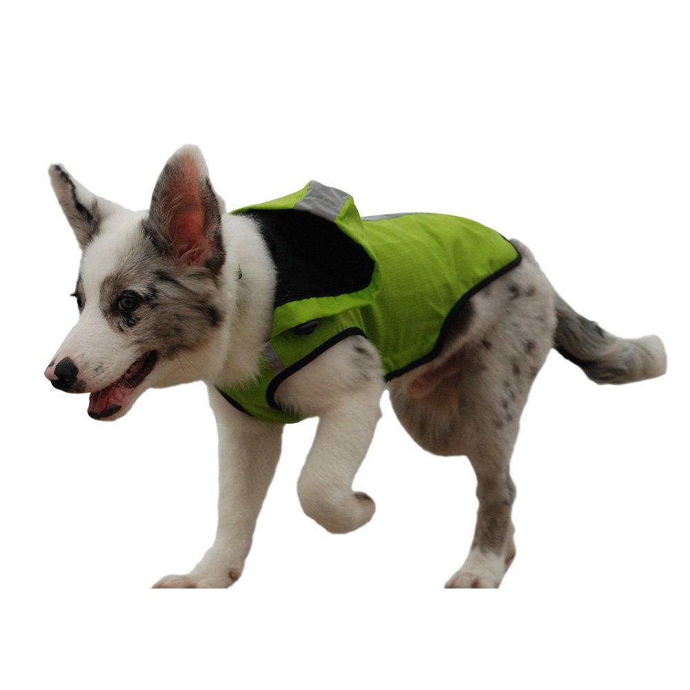 Green S green S My PET Clothes for Small Medium Dogs Large Breed Pitbull Waterproof and Warm Coat Jacket Outdoor Safety Raincoats with Reflective Article Plaid Winter Autumn Soft Green