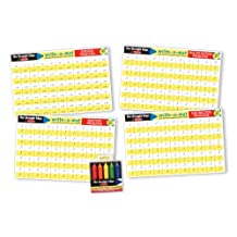 Melissa & Doug Math Skills Placemat Set - Addition, Subtraction, Multiplication, and Division