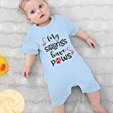 Baby Short Sleeve Rompers My Siblings Have Paws