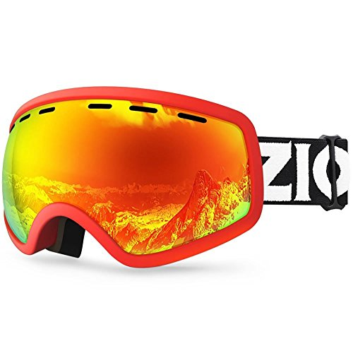 Zionor Lagopus X Mini Kids Snowmobile Snowboard Skate Ski Goggles with 100% UV Protection Anti-fog Detachable Wide Angle Double Panoramic Lens for Youth (Snowmobiles Accessories Small)