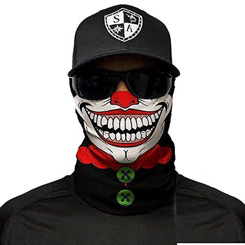 zum Seine CompanySchutzhaubeGesichtsschutzMaskeBandana HalloweenClown Fishing und SkifahrenMotorradPaintball xeorWCdB