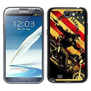 Sons Of Anarchy TV Series Black Samsung Galaxy Note 2 N7100 Screen Phone Case Beautiful and Cool Design