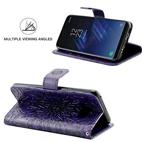 JEPER funzione Galaxy Cover in Custodia per Galaxy de con Flip libro Purple Samsung silicone magnetica Samsung S6 S7 supporto di a e Smart appoggio rrdqB7