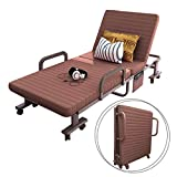 #4: Elevens 32'' Wide Folding RollAway Guest Bed, Frame Steel With Mattress and Cover