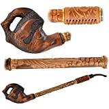 ''Pirate Claw'' Pear Wood Hand Carved small Churchwarden Tobacco Smoking Pipe
