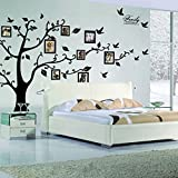 Black 3D DIY Photo Tree PVC Wall Decals Adhesive Family Wall Stickers Mural ...
