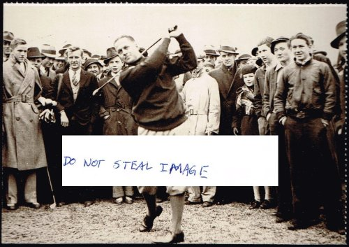 Bobby Jones Demonstrates His Championship Form For Atlanta Admirers CA 1931 Atlanta Postcard - 1931 Postcard