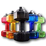 75 Oz (2.2 L) Dumbbell Shaped Water Bottle by Readygogo   Big Capacity