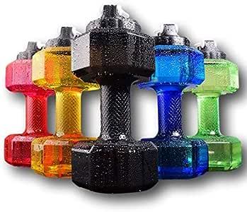 75 Oz (2.2 L) Dumbbell Shaped Water Bottle | Big Capacity | BPA Free | Flip Top Leak Proof lid | 6 Colors