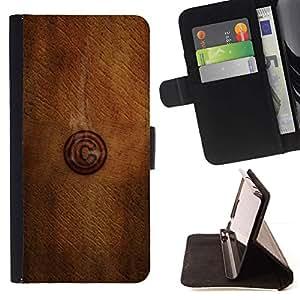 Momo Phone Case / Flip Funda de Cuero Case Cover - C Madera;;;;;;;; - Samsung Galaxy S6 EDGE