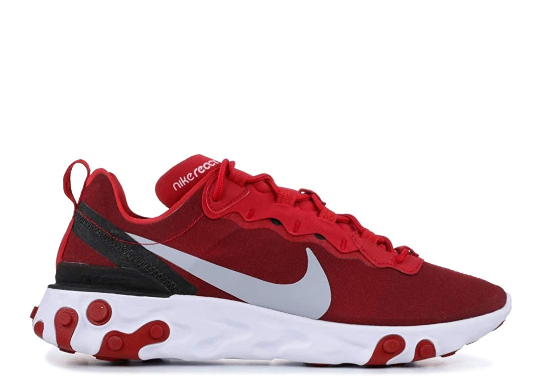 : Nike Men's React Element 55 Shoes(RedWhite,11.5