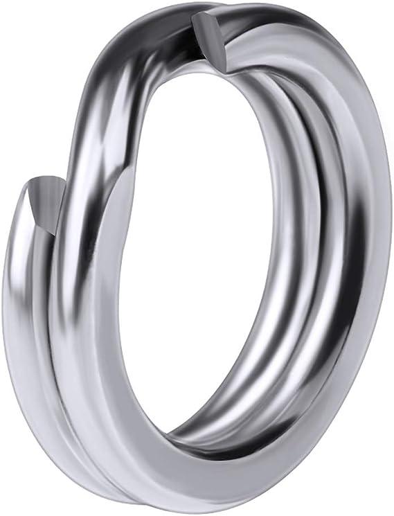 Lot 50  10MM OD Fishing Flat 304 Stainless Steel Split Rings Loop Snap Lure Hook