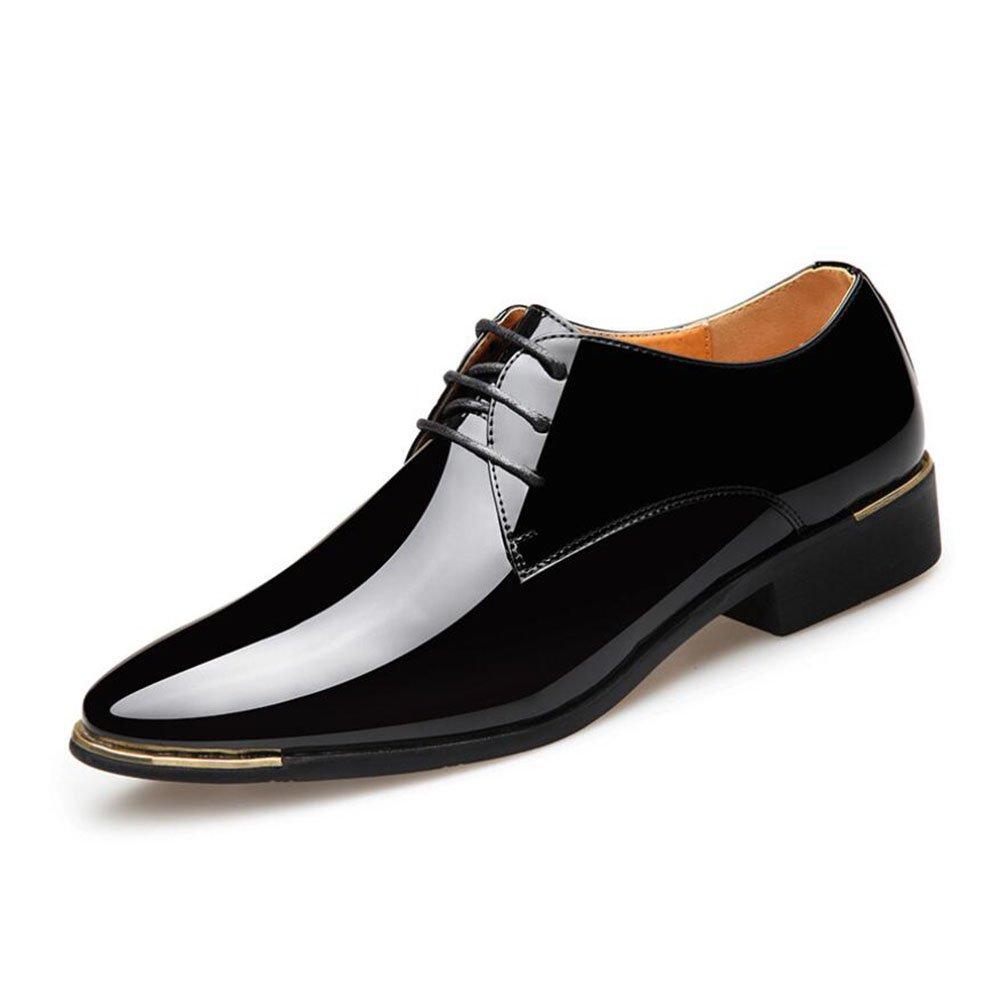 CAI Männer Spitzen/Kleid Schuhe 2018 Frühling/Herbst Geschäft Formale Schuhe/Herren Niedrig-Top/Leder Schuhe Büro/Party / Hochzeit/Schnaps Party (Farbe : Schwarz, Größe : 38)