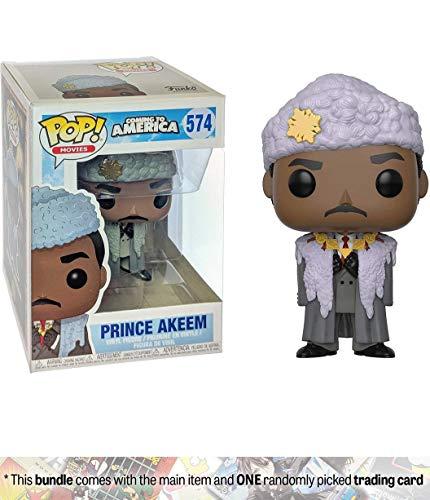 Funko Prince Akeem: Coming to America x POP! Movies Vinyl Figure + 1 Classic Movie Trading Card Bundle [#574 / 30803]]()