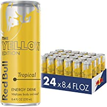 Red Bull Energy Drink Tropical 24 Pack 8.4 Fl Oz, Yellow Edition