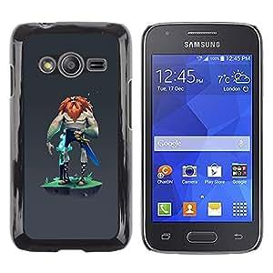 Be Good Phone Accessory // Dura Cáscara cubierta Protectora Caso Carcasa Funda de Protección para Samsung Galaxy Ace 4 G313 SM-G313F // Viking mysterious grey character man