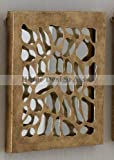 Luxe LEOPARD Animal Pattern Mirrored Wall Panel Jungle Tile Gold Print