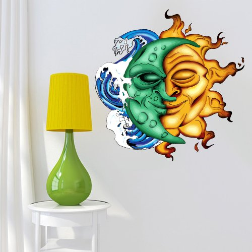 Full Color Wall Decal Mural Sticker Decor Art Poster Gift Sun Moon
