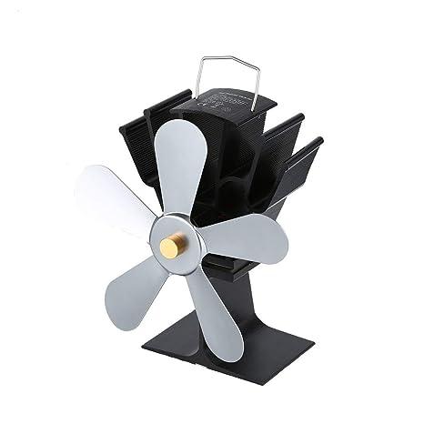 Ventilador de chimenea de potencia térmica Ventilador de estufa de leña alimentado por calor para leña
