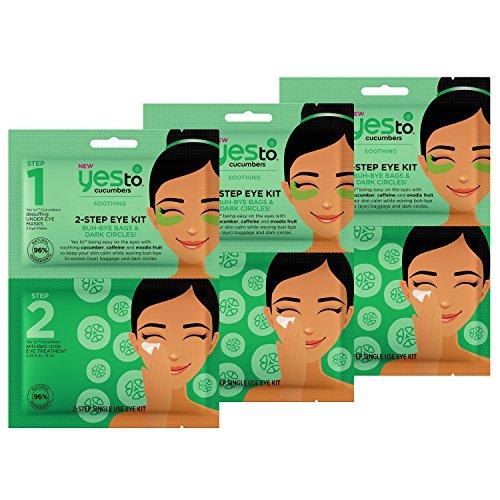 2 Step Kit - Yes To Cucumbers 2-Step Eye Kit Bundle (3 Single Use Eye Kits)