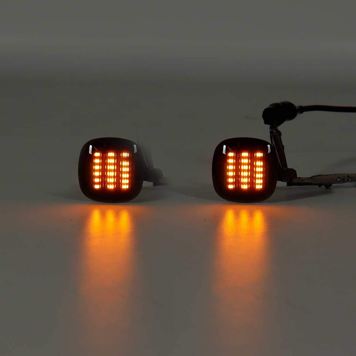 Shumo 2Pcs LED Side Marker Wing Repeater Indicators Light Dynamic Side Marker Light Turn Signal Light LED Lamps for SKODA Fabia SEAT Cordoba For A3 8L A4 8D A4 S4 B5