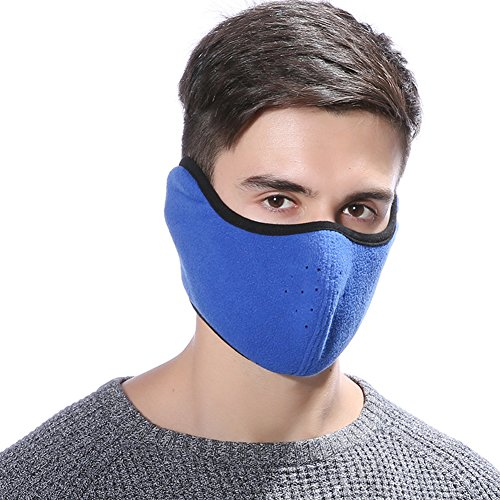 STbra Windproof Dust Ski Mask Cold Weather Winter Motorcycle Half Face mouth Warmer Fleece Mask Polyester Fleece Mask for Women Men Youth Snowboard Cycling