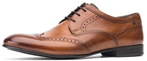 Purcell Leather Brogue Shoes - Brown Base London Outlet Low Price 72tGlFy