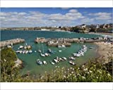 Photographic Print of View over the harbour, Newquay, Cornwall, England