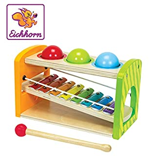 Simba Eichhorn Color - Wooden Xylophone Hammering Bench