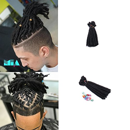 DSOAR 6 inch Handmade Dreadlocks Extensions Men's Dreadlocks Fashion Reggae Hair Hip-Hop Style 20 Strands/Pack Synthetic Dreadlocks Hair For ()
