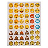 12-Pack-Of-Emoji-Stickers-Each-Pack-Contains-6-Sheets-Of-Stickers-48-Stickers-Per-Sheet-All-Together-3456-Stickers-In-Different-Popular-Emoticons--Great-Party-Favor-Prize-Gift--By-Kidsco