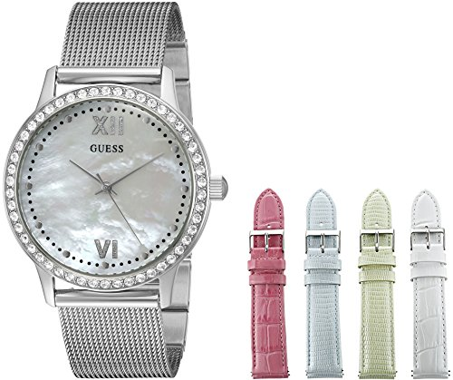 GUESS Women's U0785L1 Interchangeable Wardrobe Watch Set with Beautiful Accessory Box